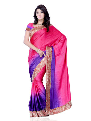 Magenta Color Jacquard PartyFestival Wear Saree