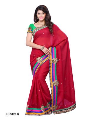 Maroon Color Art Silk Bollywood Party Wear Designer Saree