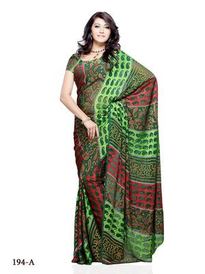 Multi Color Brasso FestivalParty Wear Designer Saree