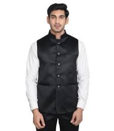 Buy Maroon Plain Poly Cotton Round Neck MEN men-festive-wear online