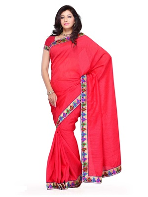 Pink Color  FestivalParty Wear Saree