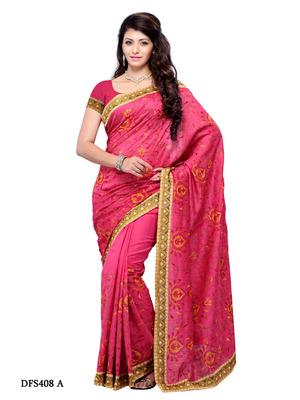 Pink Color Art Silk Bollywood Party Wear Designer Saree