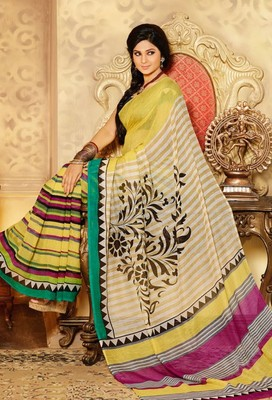 Gorgeous Bhagalpuri Art Silk Printed Saree With Blouse Piece