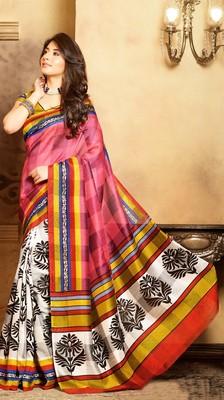 Gorgeous Bhagalpuri Art Silk Printed Saree With Blouse Piece