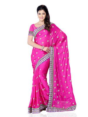 Pink Color Georgette Bollywood Designer Saree