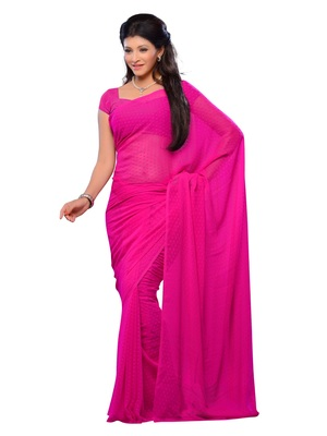 Pink Color Jacquard Casual Wear Fancy Saree