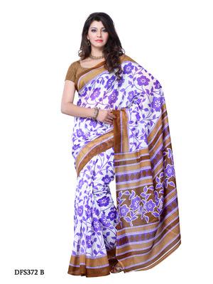 Purple Color Art Silk Party Wear Fancy Saree