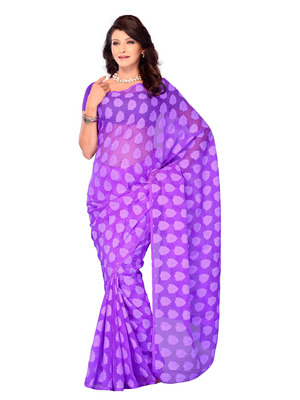 Purple Color Jacquard PartyFestival Wear Saree