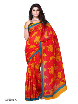 Red Color Art Silk Party Wear Fancy Saree