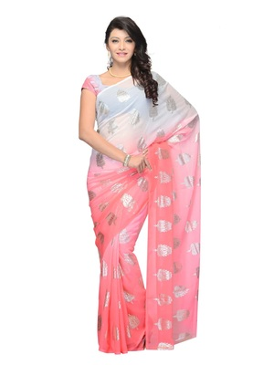 Red Color Georgette Casual Wear Fancy Saree