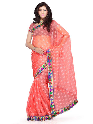Red Color Jacquard FestivalParty Wear Designer Saree