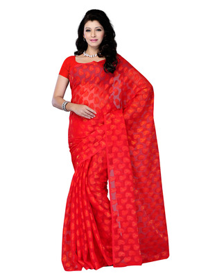 Red Color Jacquard Party Wear Fancy Designer Saree