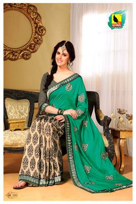 Sea Green Partywear Designer Saree