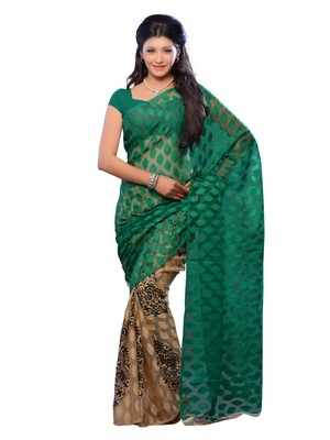 Teal Color Jacquard Party Wear Fancy Designer Saree