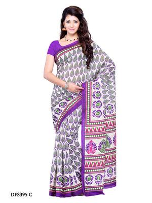 Viloet Color Art Silk Party Wear Fancy Saree