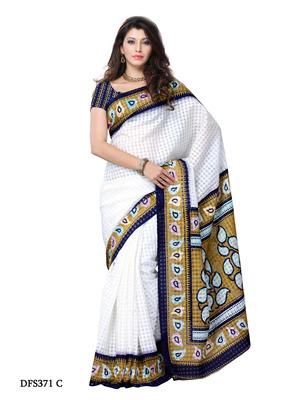 White Color Art Silk Party Wear Fancy Saree