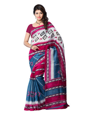 Wine And Blue Color Art Silk Party Wear Fancy Saree