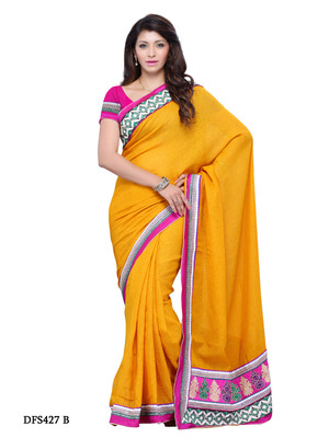 Yellow Color Art Silk Bollywood Party Wear Designer Saree