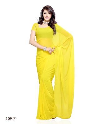 Yellow Color Chiffon FestivalCasual Wear Saree