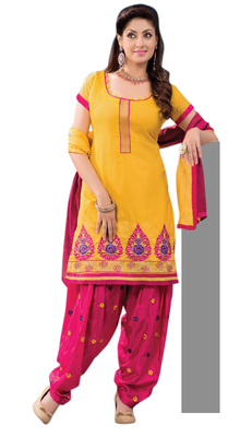 Admirable Embroidered Chanderi Cotton Salwar Kameez