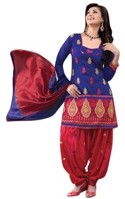 Fabulous Embroidered Chanderi Cotton Salwar Kameez