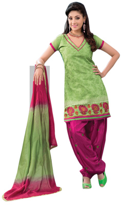 Sophisticated Embroidered Chanderi Cotton Salwar Kameez