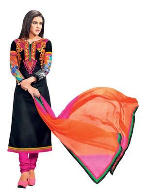 Striking Embroidered Cotton Salwar Kameez