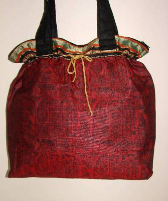 Red traditional hand bag