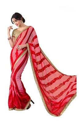 Designer Printed Georgette Saree with Blouse