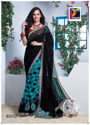Party Wear Cutpatch Art silk Saree