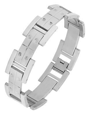 Links screw glossy matte links daily 316l surgical stainless steel bracelet for boys men