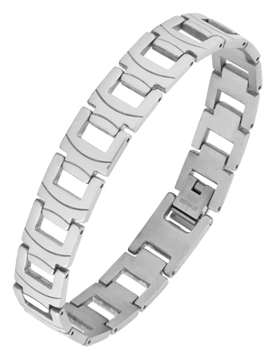 Trendy biker macho 316l surgical stainless steel links bracelet for boys men