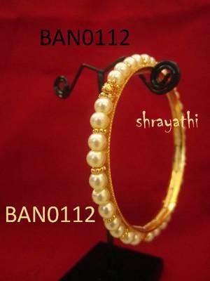 White Beaded Bangle