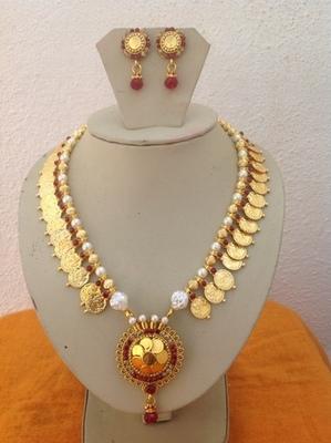 Antique kundan temple laxmi jewellery for sale