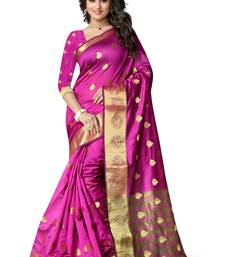 Buy Purple woven cotton silk saree with blouse manipuri-silk-saree online