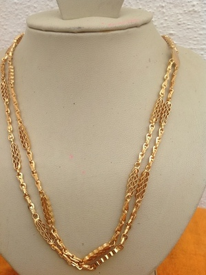50a996151c3 2 rows of imitation gold chain (rettai vada) - antique and traditional
