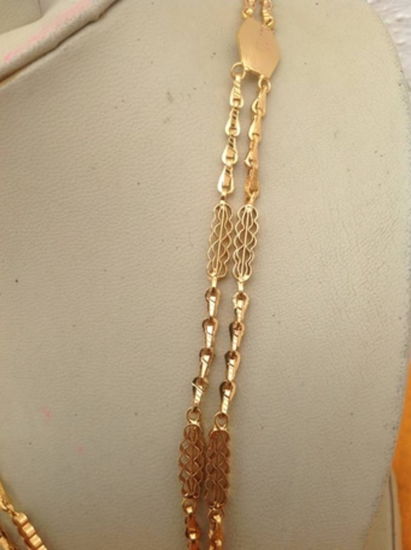 Buy 2 Rows Of Imitation Gold Chain Rettai Vada Antique