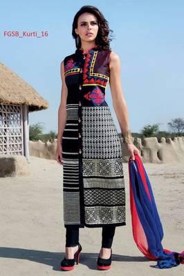 multicolor stitched taffeta silk stitched kurti