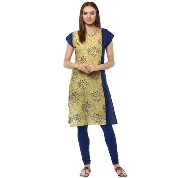 blue stitched cotton stitched kurti