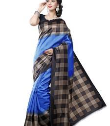 Buy Multicolor printed art silk saree with blouse below-500 online
