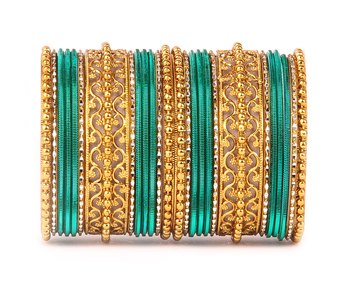 Low Cost Shinning Bangle Set for Women