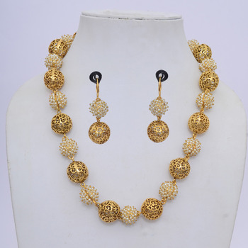 Princess Polki & Pearls Necklace Set