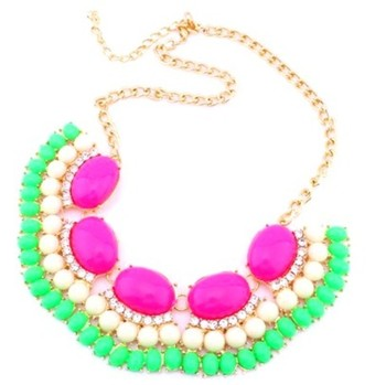 Chunky Colourful  acrylic  necklace