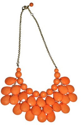 Acrylic beads necklace - Orange