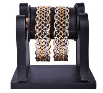 Gold Plated Bangle Set for Party Wear