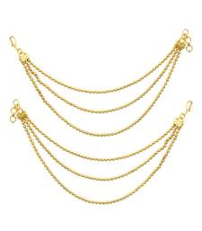 Buy Golden traditional ear chain jewellery for women karva-chauth-jewellery online