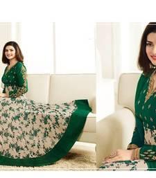 Buy Green embroidered georgette salwar with dupatta ready-to-ship-salwar-kameez online