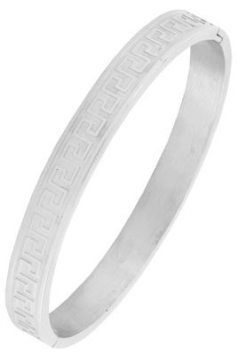 Italian designer silver 316l surgical stainless steel openable free size kada bangle bracelet men