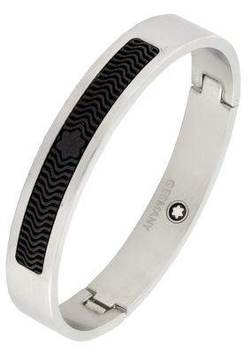German luxury designer silver black 316l surgical stainless steel kada bangle bracelet for men