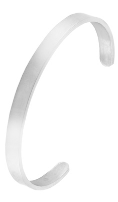 Handcuff glossy silver plated 316l surgical stainless steel cuff kada bangle bracelet for men